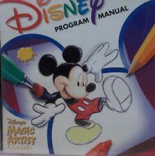 CD ROM  Disney Program Manual - Disney's Magic Artist Classic #37