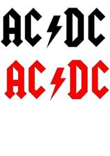 2 x AC DC STICKERS DECAL 200mm x 80mm  IN VARIOUS COLOURS ROCK HEAVY METAL