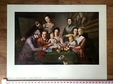 Peale Family - Charles Willson 1958 Quality Genuine Vintage Art Print Lithograph