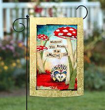 New Toland - Amazing Hedgehog - Cute Forest Red Mushroom Garden Flag
