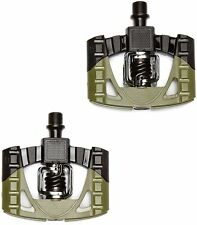 Crank Brothers Mallet 1 - Bicycle Pedals - Black/Green - Pair Cycle Pedals