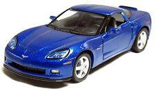 """5"""" Kinsmart 2007 Chevrolet Corvette Z06 Diecast Model Toy Car 1:36 Chevy BLUE"""
