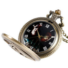 Xmas Gift Mens Harry Potter The Deathly Hallows Necklace Chain Pocket Watch New