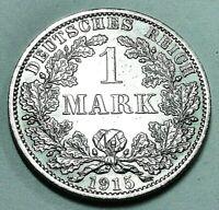 Deutsches Kaiserreich 1 Mark Silber 1915 A - Reichsadler - st / unz