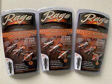 3 packs Rage Crossbow Hypodermic Broadheads 100 Grain 2