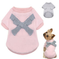 Cute Clothes for Small Dogs Cats Sweater Cotton Vest Pajamas Pink Boy Girl Coats