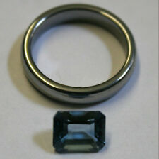 NATURAL LONDON BLUE TOPAZ GEMSTONE 7X9MM FACETED OCTAGON 2.8CT MINERAL TZ29C