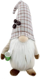 Godeufe Coffee Gnome Summer Decorations Handmade Plush Tomte for Home Kitchen Ba