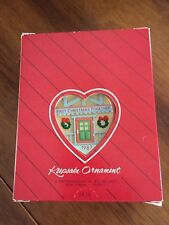 Hallmark Christmas Ornament First Christmas Together 1987 Handcrafted With Box
