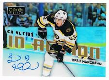 2018-19 O-Pee-Chee OPC Platinum In Action Rainbow Autograph #IA-7 Brad Marchand