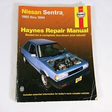 Haynes Repair Manual Nissan Sentra 1982-1994