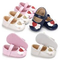 Infant Toddler Baby Girls Slip On Cartoon Soft Crib Anti-slip Single Sneakers P