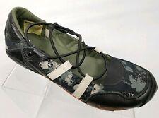 Diesel Maudy Jane Mary Jane Flats Sport Shoe Sneaker Black Olive Green Size 9
