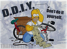 The Simpsons Homer D.D.I.Y. Don't Do It Yourself Magnet ~ Licensed ~ NEW
