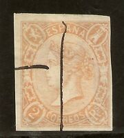 Edifil  73A (º)  Isabel II  2 Reales Salmón  1865    NL1029