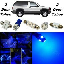 22x Blue LED lights interior package + Gauge cluster 1992-1999 Tahoe/Yukon CT5B