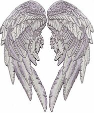 "14.5"" Motorcycle Angel Wings Back Patch Feathers Biker Chick Lady Rider 2pc. Set"