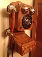 Country Wooden Vintage Wall Telephone