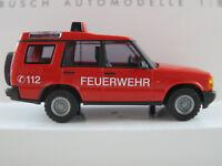"Busch 51910 Land Rover Discovery Series II (1998) ""FEUERWEHR"" 1:87/H0 NEU/OVP"