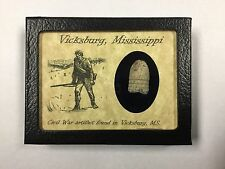 Shot Bullet Relic from Vicksburg, Mississippi with Display Case and COA
