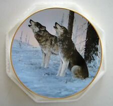 """""""Cry of the Wild"""" plate from The Artic Majesty plate collection"""