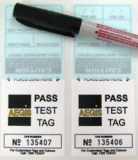 Aegis Pass Tags for Power lead & Appliance Tester Electrical Safety - 100 tags