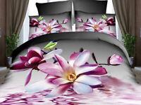 Taie D'oreiller 3D Housse de Couette Literie Fleur Nature Oiseaux 160cm x 200cm