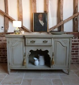 Victorian painted carved sideboard server - internal drawers cupboards storage