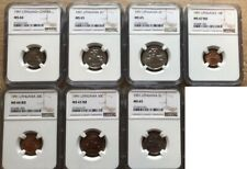1991 Lithuania ----NGC---- MS coins set ----7 coins----