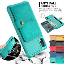 For iPhone 12 11 Pro XS X Max 8 7 Leather Card Back Wallet Shockproof Case Cover
