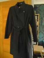 NEW MONSOON wool rich charcoal grey size 16 coat...rp £ 150.00