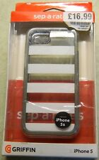Griffin Separates Case For For iPhone 5 / 5s - White Stripes with Grey Surround