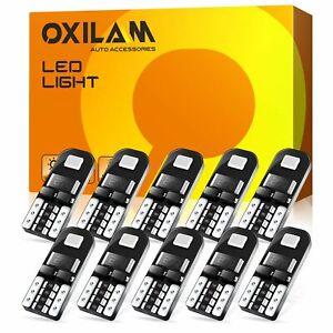 10x Blue T10 194 LED Bulbs for Instrument Gauge Cluster Dash Light Super Birhgt