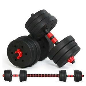Dumbbelll weight 88 lb / 110 lb Adjustable workout Barbell Set, 2 in 1 Weights