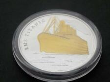 RMS Titanic Gold and Silver Plated Commemorative Coin Journey of the Titanic