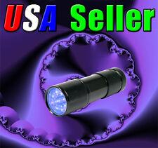 9 UV LED Ultra Violet Black Light 380-400nm F-509UV Flashlight