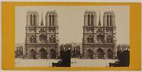 Cattedrale Notre-Dame De Paris Francia Foto Stereo L6n52 Vintage Albumina c1870
