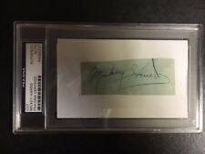 "Mickey Harris Vintage Fountain Pen Signed/Mounted ""Cut"" PSA/DNA"