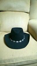STETSON Pony Express WW174 Teague Black Wool Hat Cowboy Size Size 7 3/8