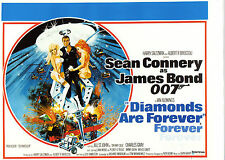 DIAMONDS ARE FOREVER, 1971, 2 top quality 11 * 8.5 Reproductions, poster & scene