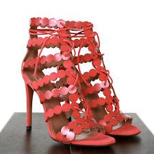 6be0934aa64 ALAIA 750 Cutout Circle Dot High Heel Sandals Alaïa Red PUMPS Shoes 39.5