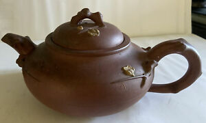 Beautiful Antique Chinese Yixing Clay Teapot With Branch Design 400ml