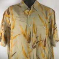 Classic Tori Richards Silk Aloha Shirt SZ XL Tropical Camp Shirt