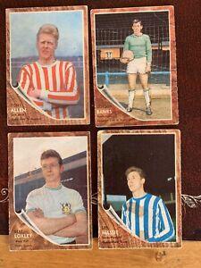 A&bc Blue Backed Football Bubblegum Cards X4 1st Series 1963/4