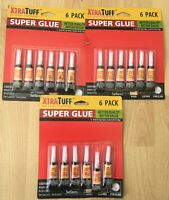 18Pcs Super Glue Extra Strong Bond Adhesive Rubbe Plastic Glass Paper UK