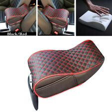 Car Universal Armrest Box Mat Interior Armrest Pad PU Leather Styling Black/Red