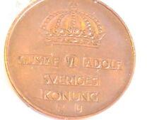 SWEDEN CIRCULATED 1962 5 ORE SWEDEN COIN BEAUTIFUL BRASS COIN GUSTAF VI ADOLF