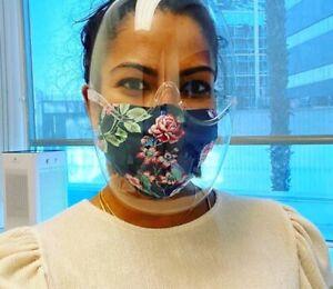 "Safety Full Face Sunglasses Mask Shield Mirror Glasses Goggles 2021  ""5 PCs Set"""