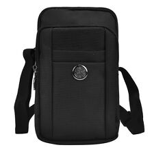 Black Travel Sport Shoulder Bag Phone Pouch for Samsung Galaxy Note 9/ iPhone Xs
