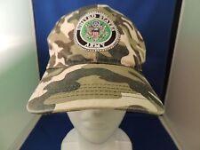 Trucker Cloth Velcro Cap Hat United States Army Camo EUC One Size